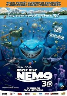 """Gdzie jest Nemo? (2003) Nagrodzona Oscarem® za najlepszy pełnometrażowy film animowany produkcja """"Gdzie jest Nemo"""" powraca na ekrany kin w technologii Disney Digital 3..."""