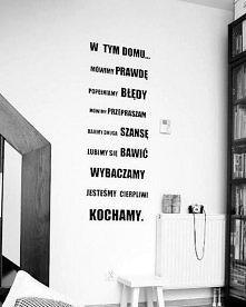 ciekawy pomysł na ścianę w domu ;)