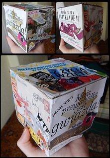 Pomysł na ozdobienie pudełka na prezent ;) Zrobiłam coś takiego dla przyjació...