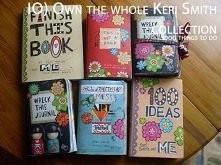 """a oto tutaj inne """"książki"""" autorstwa Keri Smith. Polecam zakup, nie jest to coś dla wszystkich, ale kreatywne dusze je pokochają"""