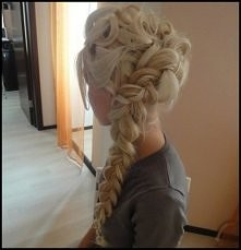 fryzura jak z Frozen... piękna*-*