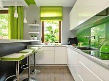 kuchnia z zielonym akcentem