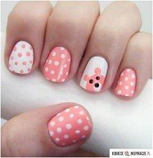 Biało-różowe grochy