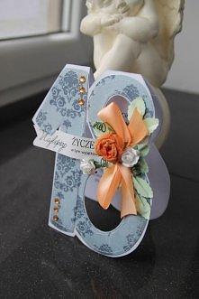 Osiemnastkowy zawrót głowy!!! ręcznie robiona i wyszywana karta dostępna na allegro w 4 kolorach, login annart-atelier