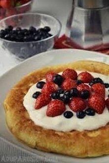 Omlet owsiany jajko 1/2 szklanki pł.owsianych olej 1/3 szklanki mleka owoce i inne dodatki Żółtko, mleko i płatki blendujemy i pozostawiamy. Następnie ubijamy białko na sztywną ...