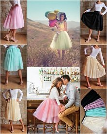 Piękna spódnica tiulowe w kolorze CZARNYM, MIĘTOWYM, MORELOWYM/ BRZOSKWINIOWY...