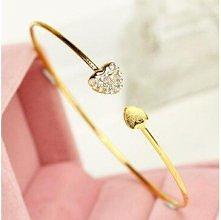 Trendy Heart Embellished Bracelet