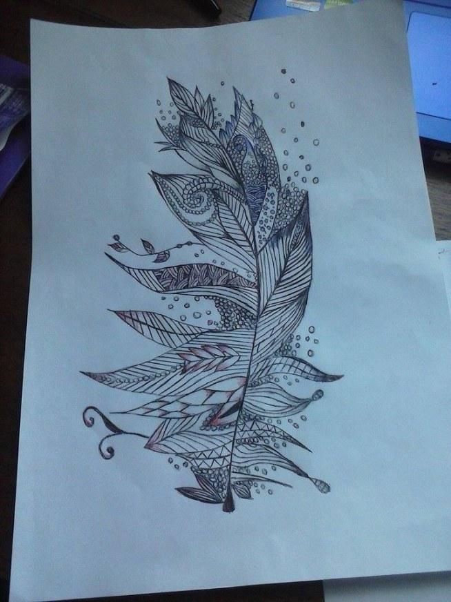 Takie fajne piórko :) Jeden z moich rysunków :3 Co myślicie?