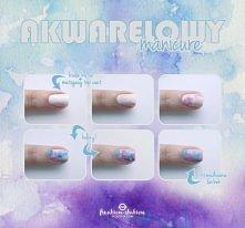 jak zrobić akwarelowy manicure?