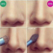 jak optycznie zmniejszyć nos ;)