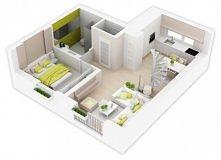 2 pokoje, 48,5 m² powierzchni użytkowej