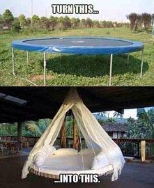 trampolina w eleganckim stylu :)