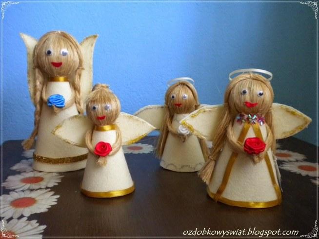 Aniołki z filcu
