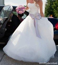 Suknia ślubna z kokardą <3