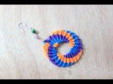como hacer aros en macrame circulares