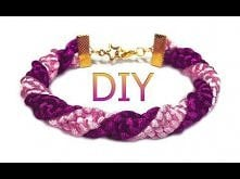 DIY: Spiral macrame bracele...