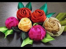 D.I.Y. Handmade Satin Rose ...