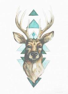 Jeleń i trójkąty