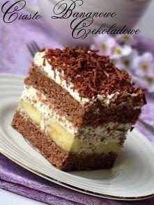 Ciasto przekładane - czekoladowo bananowe  przepis po kliknięciu :)