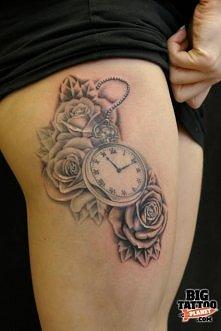 zegar i róże