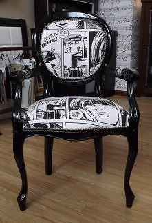 Elegancki, oryginalny, designerski - to najprostsze określenia krzesła Komiks II. Takie krzesełko będzie ciekawym akcentem w każdym pomieszczeniu - biurze, gabinecie, sypialni, ...