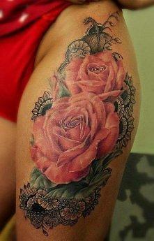 róże tatuaże