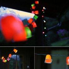 lampki z kubeczków po danonkach