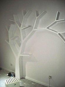 półka (jak) drzewo na książ...