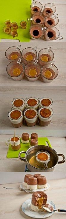 Mini serniczki na zimno z karmelem, dla zszywki krok po kroku