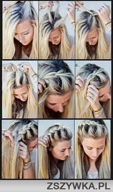 Łatwe do zrobienia i wygląda uroczo. Ciekawy sposób na ułożenie oklapłych nieukładających się włosów.
