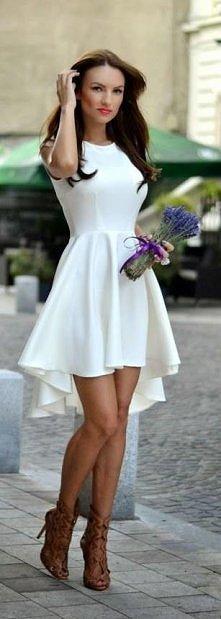 piękna asymetryczna biała s...