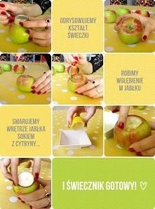 jabłkowy świecznik :)