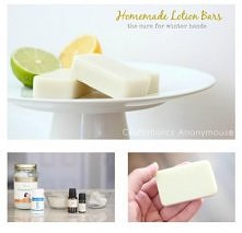 How to make DIY homemade lotion bars that helps dry hands