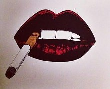 drawing, lips.