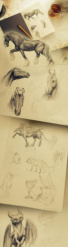 Miałam taki ambitny plan: założyć Zszywkę… i się udało :) Oto kilka szkiców z...
