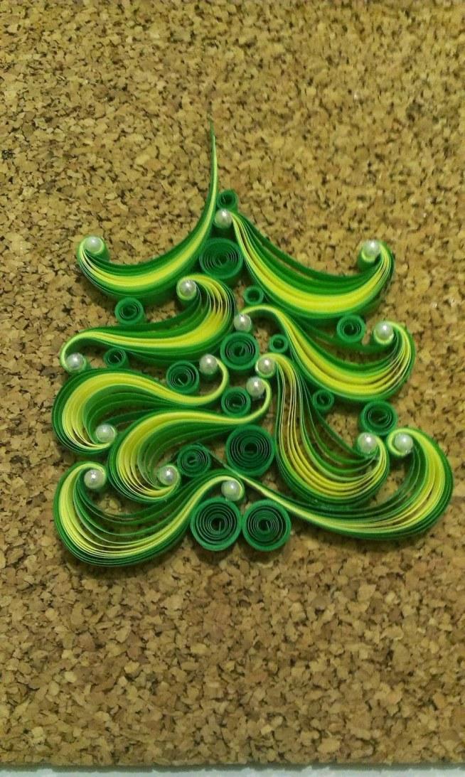 świątecznie - choinka z perełkami