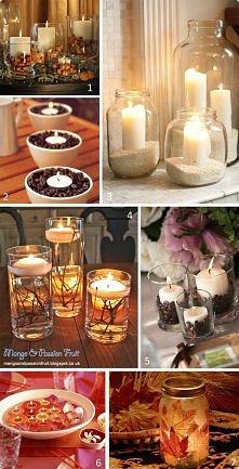 nastrojowe świeczniki :)