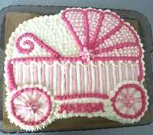 tort wózek(oczywiście cały ze śmietany jak wszystkie inne moje torty)