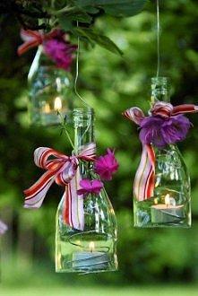 Lampion z butelki - super pomysł :)