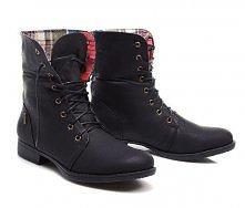 Klasyczne workery w kolorze czarnym, sprawdźcie więcej informacji - kliknijcie w duże zdjęcie butów.