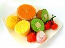 owoce z filcu
