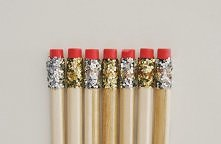 ołówki DIY z brokatem