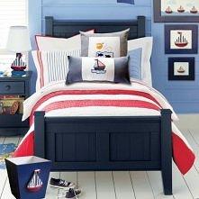 pokój w sam raz dla chłopca - w marynarskim stylu.