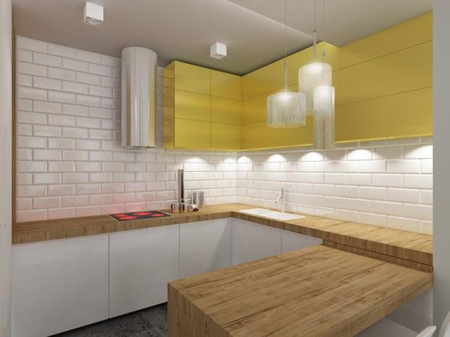Projekt Wnętrza Kuchni W Mieszkaniu W Stylu Eklektycznym