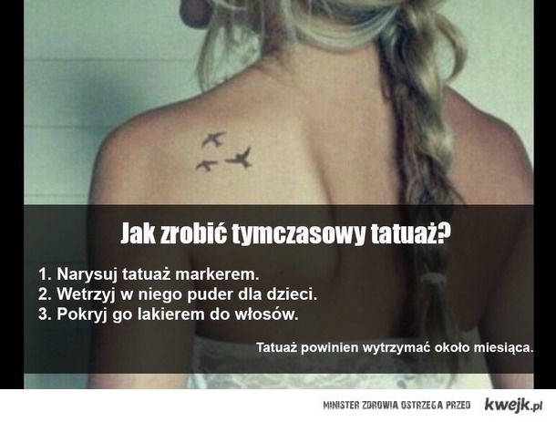 Tymczasowy Tatuaż Na Diy Zszywkapl