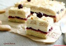 Ciasto Bajka   Składniki:   Biszkopt:  4 jajka 130 g cukru 90 g mąki 40 g mąk...