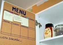 jak zrobić planner menu w kuchennej szafce