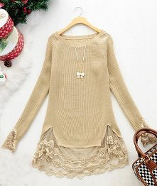 sweter i ozdobna firanka kupiona na pchlim targu