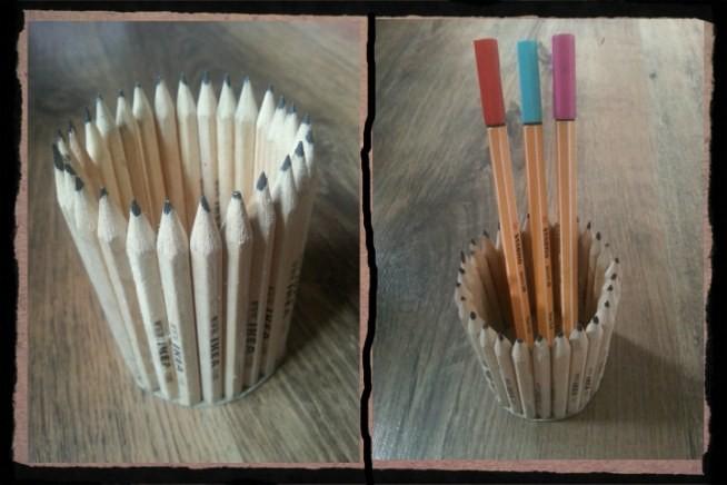 Kubek na długopisy wykonany z ołówków z Ikea ☆ Proste w wykonaniu :)