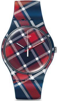Zegarek w szkocką kratę.